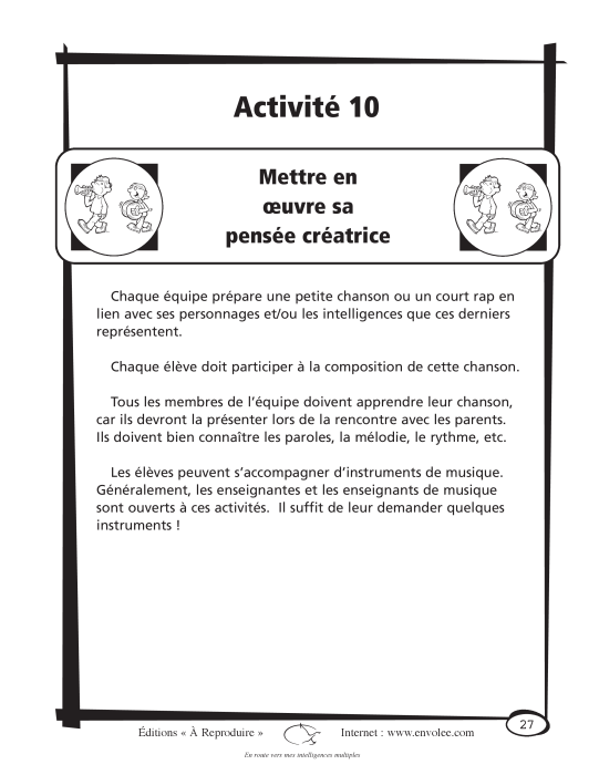 Spécimen de En route vers mes intelligences multiples - en PDF