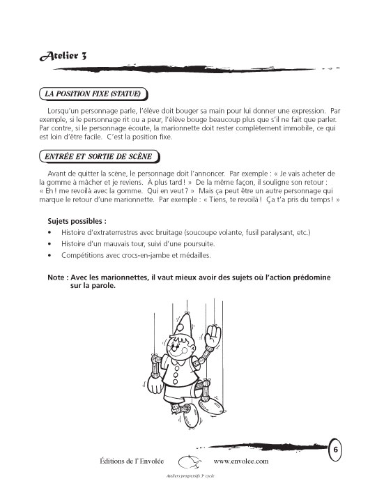 Spécimen de Ateliers progressifs 3e cycle