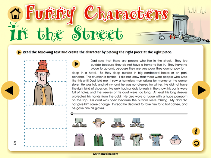 Spécimen de Funny Characters - Application TNI