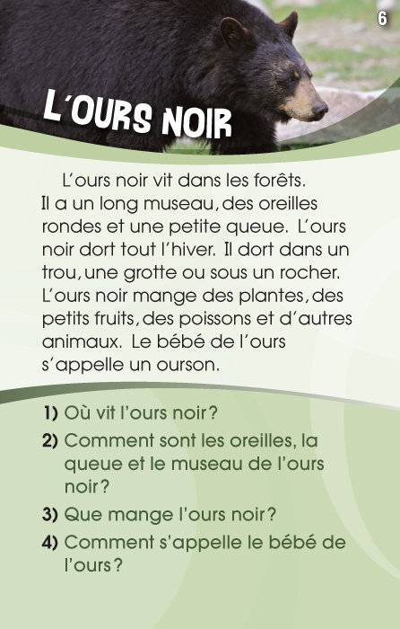 Specimens Lecture à la carte - Animaux 1