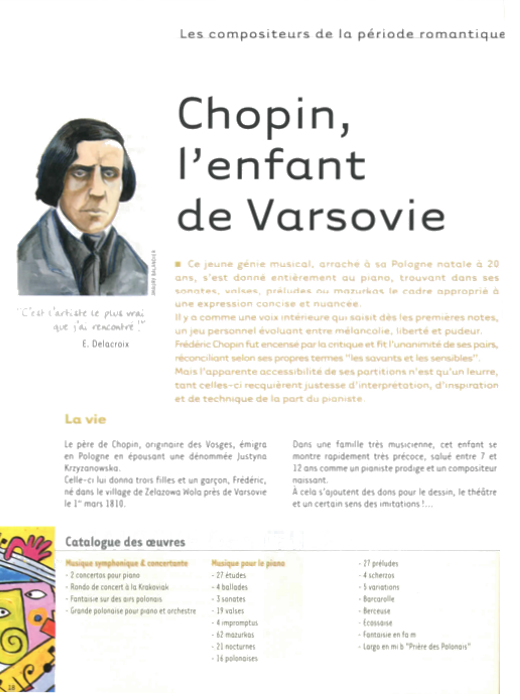 Specimens Les grands compositeurs 1 (Classicisme - Romantisme)