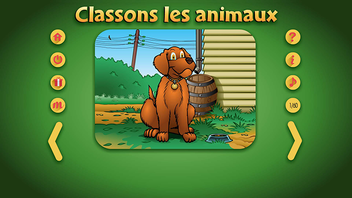 Specimens Classons les animaux