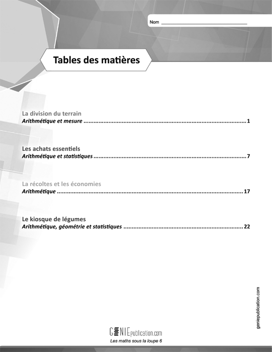 Specimens Les maths sous la loupe 6