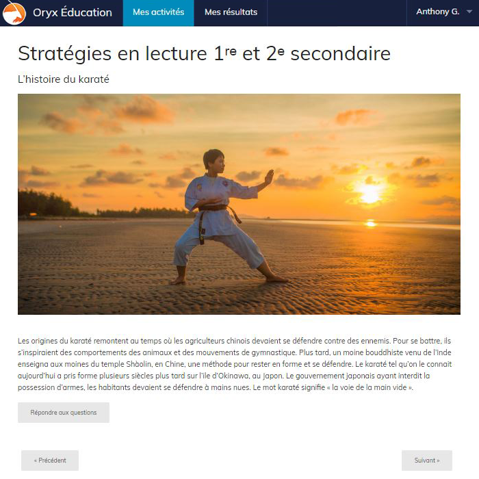 Specimens Stratégies en lecture 1re et 2e secondaire - App Web