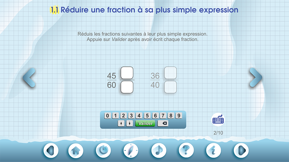 Specimens Les fractions B