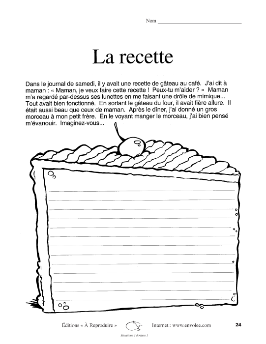 Specimens Situations d'écriture 1