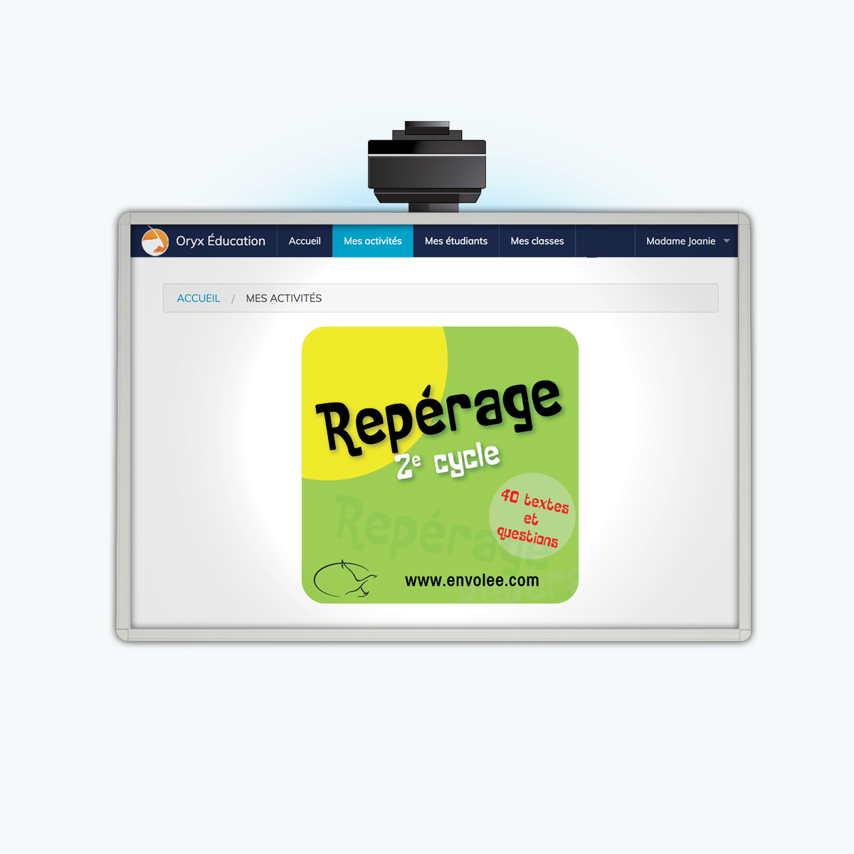 Repérage 2e cycle - App Web