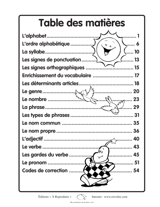 Specimens Ma grammaire du premier cycle