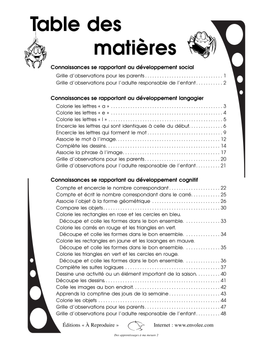 Specimens Des apprentissages à ma mesure 2