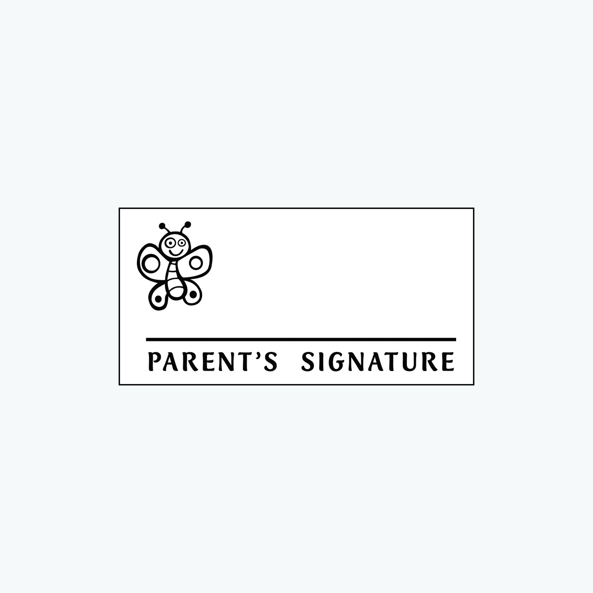 « Parent's Signature » Stamp