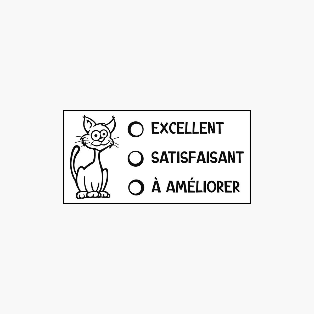 « Excellent, satisfaisant... » Stamp
