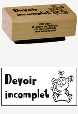 « Devoir incomplet » Stamp