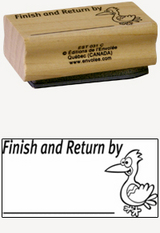 « Finish and Return by » Stamp