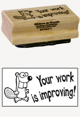 « Your work is improving » Stamp