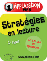 Stratégies en lecture 2e cycle - Web Application