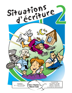 Situations d'écriture 2 - en PDF