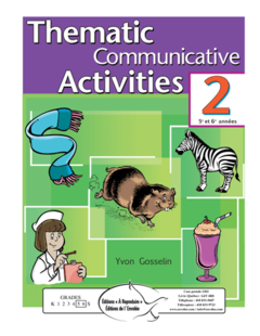 Thematic Comm. Activities, vol. 2 (3e cycle) - en PDF