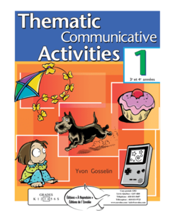 Thematic Comm. Activities, vol. 1 (2e cycle) - en PDF