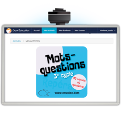 Mots-questions 3e cycle - App. Web