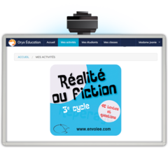 Réalité ou fiction 3e cycle - Web Application