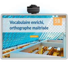 Vocabulaire enrichi, orthographe maitrisée 5B - Application TNI