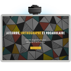 Accords, orthographe et vocabulaire - Application TNI