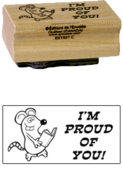 « I'm proud of you! » Stamp