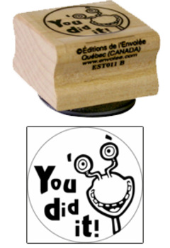 « You did it! » Stamp