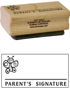 Estampe bois Parent's Signature