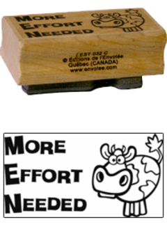 « More Effort Needed » Stamp