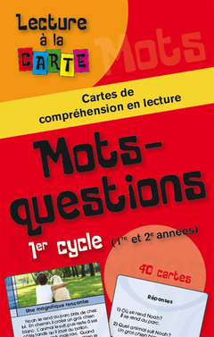 Lecture à la carte - Mots-questions 1er cycle