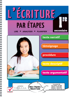 L'écriture par étapes - 1re secondaire