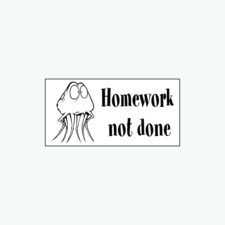 « Homework not done » Stamp